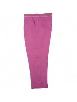 Larrana. Pantalón de lino fucsia con bolsillos
