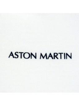 Aston Martin. Polo blanco logo