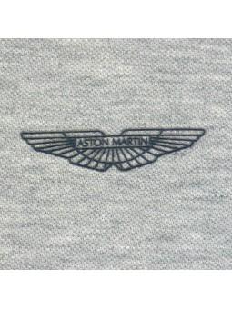 Aston Martin. Polo gris logo