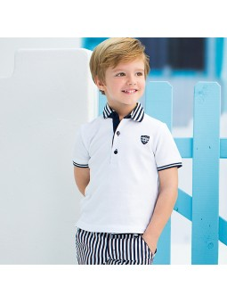 Tutto Piccolo. Polo blanco lookbook