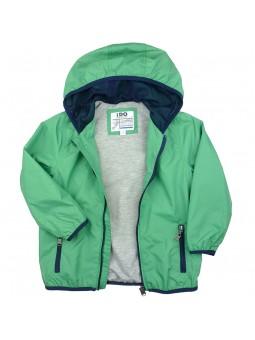 Cortavientos verde con forro y capucha